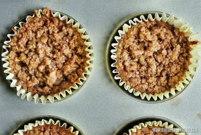 Banana Bread Oatmeal Muffins | On The Creek