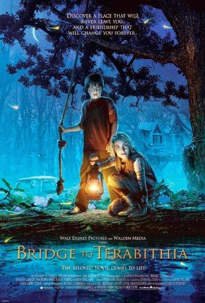 Poster Of Bridge to Terabithia (2007) Full Movie Hindi Dubbed Free Download Watch Online At Alldownloads4u.Com