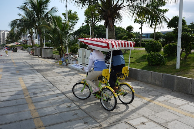 a double-bicycle in Zhuhai, China