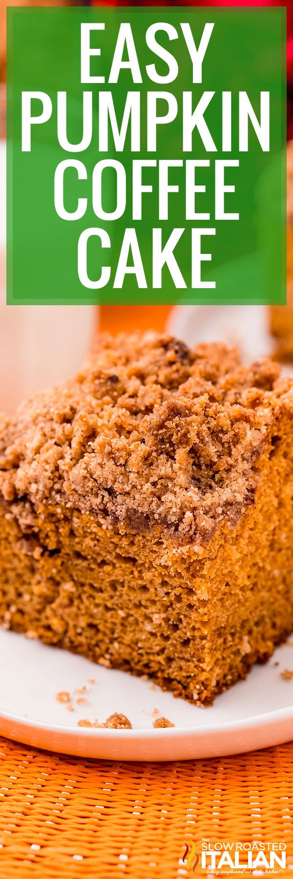 Easy Pumpkin Coffee Cake close up