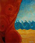 049 - La Naissance de Vénus -1993 61 x 50 - Acrylique sur toile