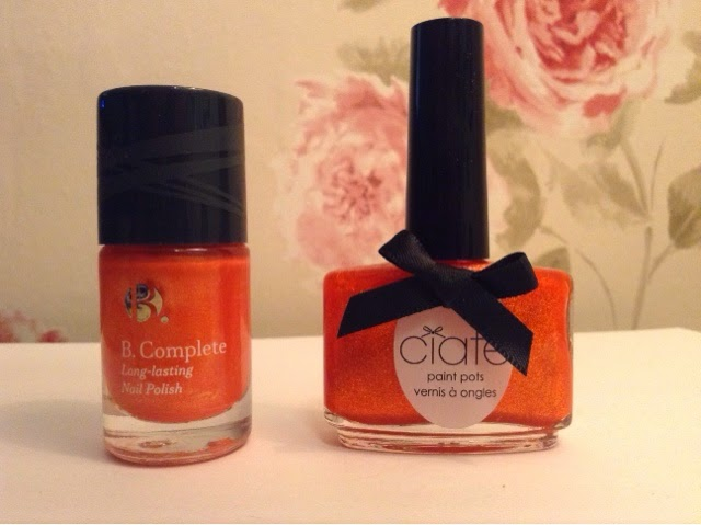 Superdrug B.Complete Nail Polish Sunrise is a dupe for Ciate Skinny Dip