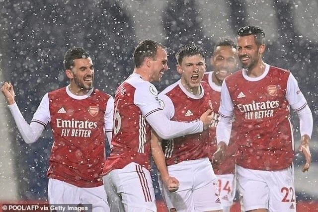 Arsenal Trashes Westbrom 4 Nil To Make It Three In A Row