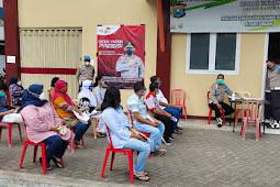 1.723 Orang Ikuti Vaksinasi di Gerai Vaksin Presisi Polres Lumajang Dan Polsek Jajaran