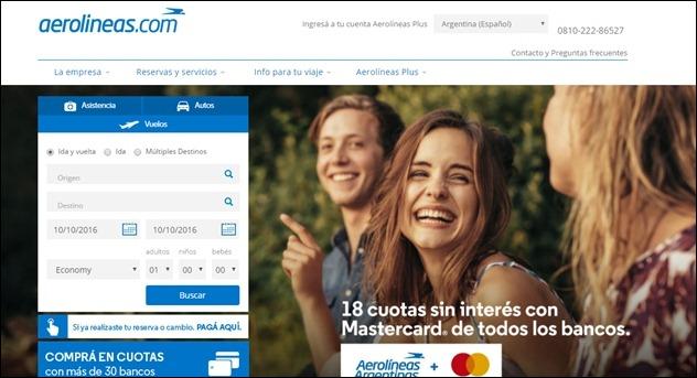 Abrir mi cuenta en Aerolineas Argentinas
