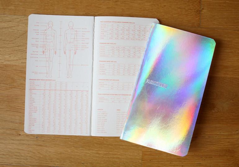 fashionary womenswear neon lights sketchbook details