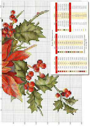 cross stitch pattern Christmas Star- motivo per stella di natale a punto croce.