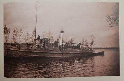 """""""Талабск"""" в устье реки Втроя. 1931 г.(иллюстрация из книги """"Поселения Понаровья"""")"""