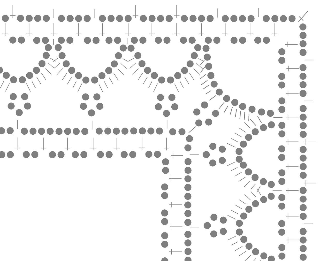 Прямоугольная салфетка связана крючком 107