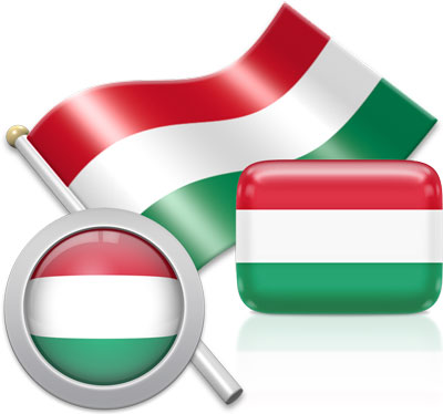 Hungarian flag icons pictures collection