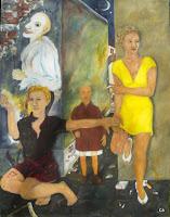 'Die Bettlerin', Öl auf Leinwand, 100x130, Okt.-Dez.1995