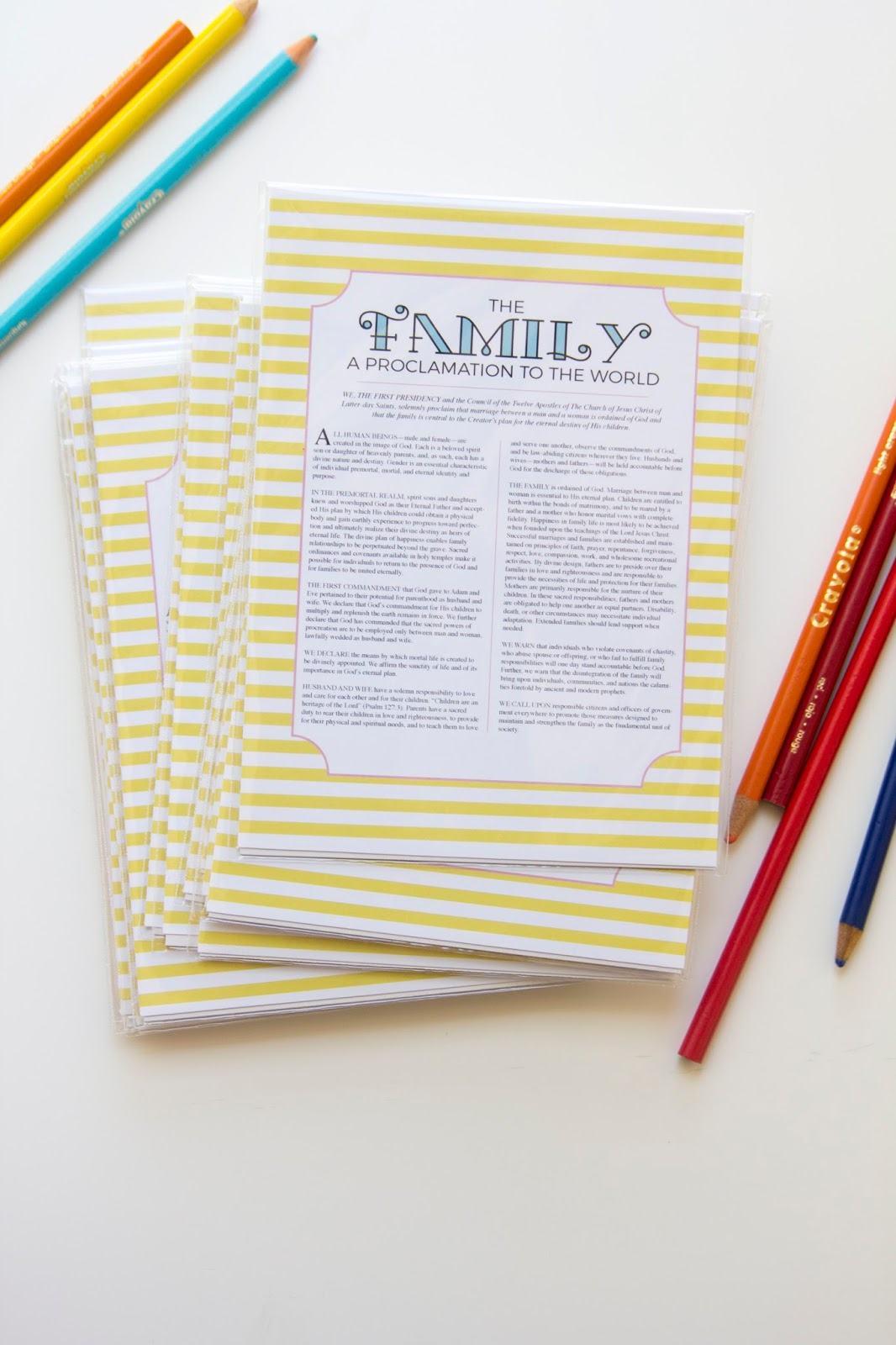 Free Family Proclamation Printable