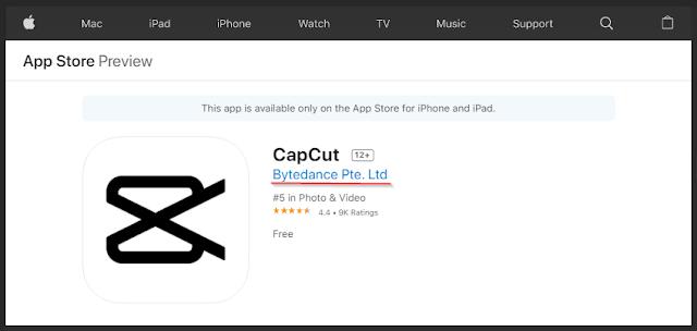 aplikasi CapCut untuk iOS
