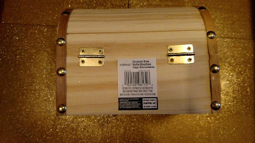 "This is the ""treasure box"" I bought at a Craft Store called ""Michaels."" Any similar treasure box should do."