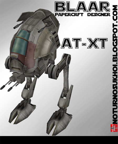All Terrain Experimental Transport ATXT Papercraft