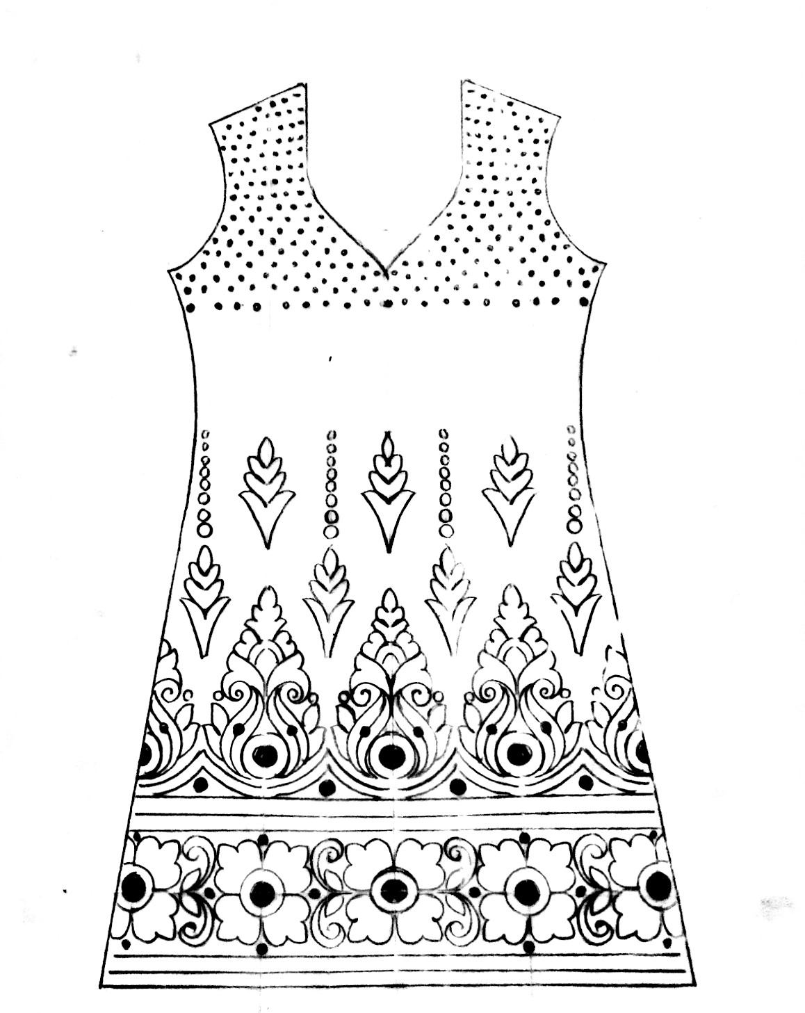How to embroidery dress neck design/emroidery dress design/hand embroidery dress design india