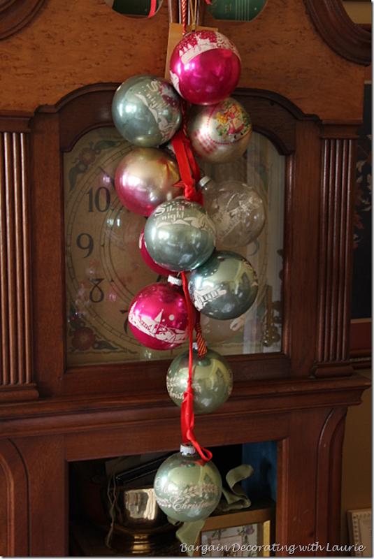 Vintage Christmas Ornament Swag