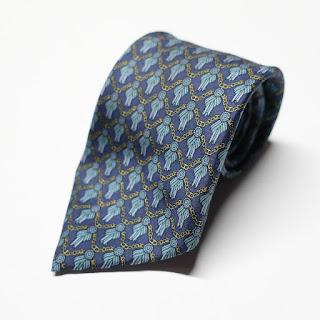 Hermès Dark Blue Necktie