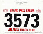 ATC August 5K, Mike's race bib.