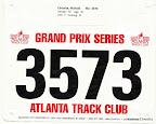 ATC August 5K, Mike's race bib.