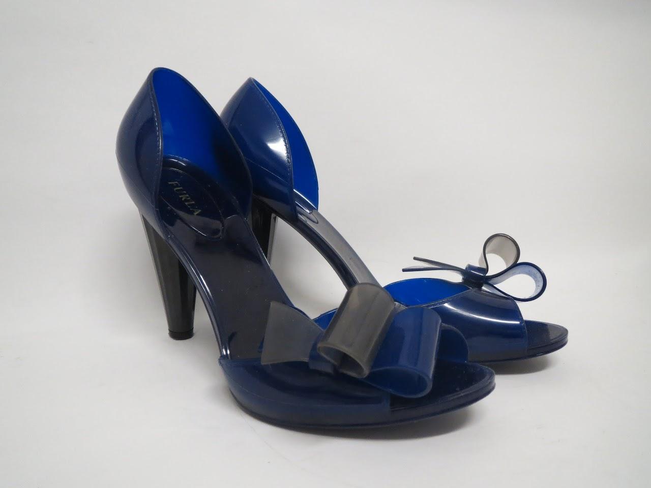 Furla Blue Rubber Pumps