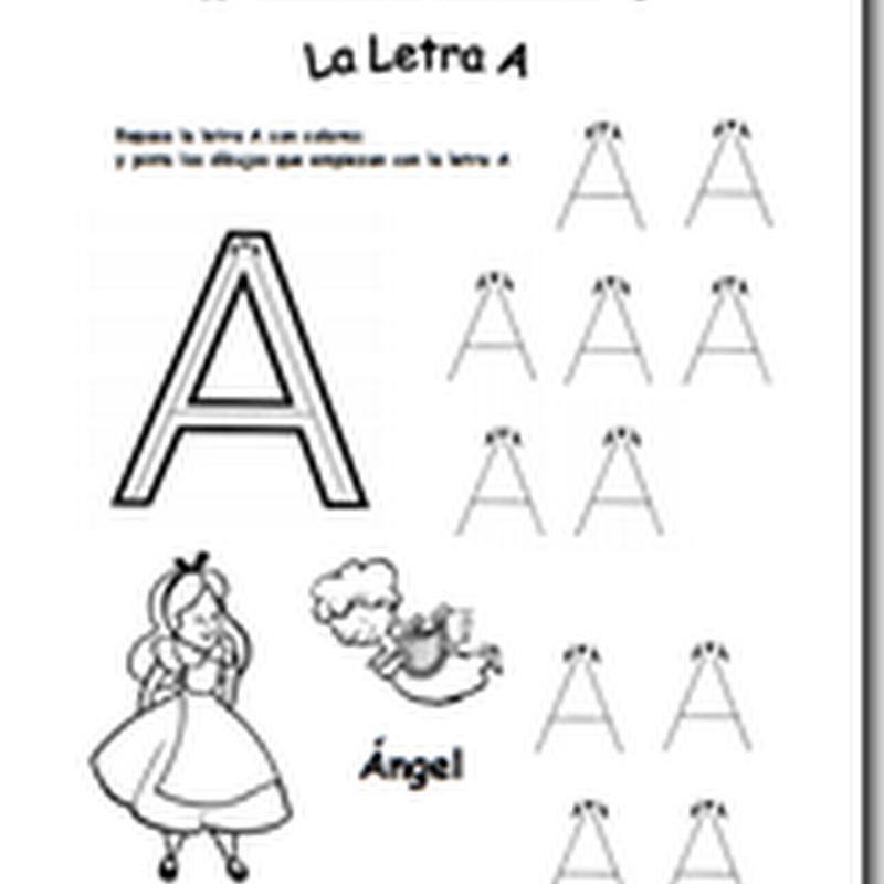 Fichas de vocales para imprimir