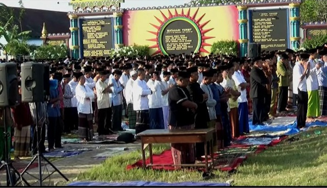 Jamaah Tarekat Shiddiqiyyah Jombang Salat Idul Adha Hari Ini