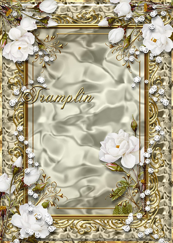 Рамка  для фото золотая с розами - Порхают пусть слова, как соловьи