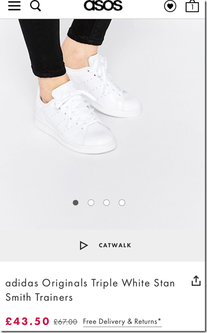 adidas Originals Triple White Stan Smith on asos