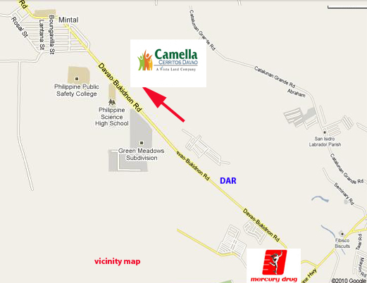 Camella Cerritos Davao Location Map