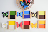 Montessori Inspired Butterfly Coloring Matching Activity