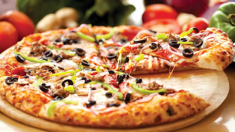 Hinh anh: Banh Pizza dep mat va khong kem phan hap dan