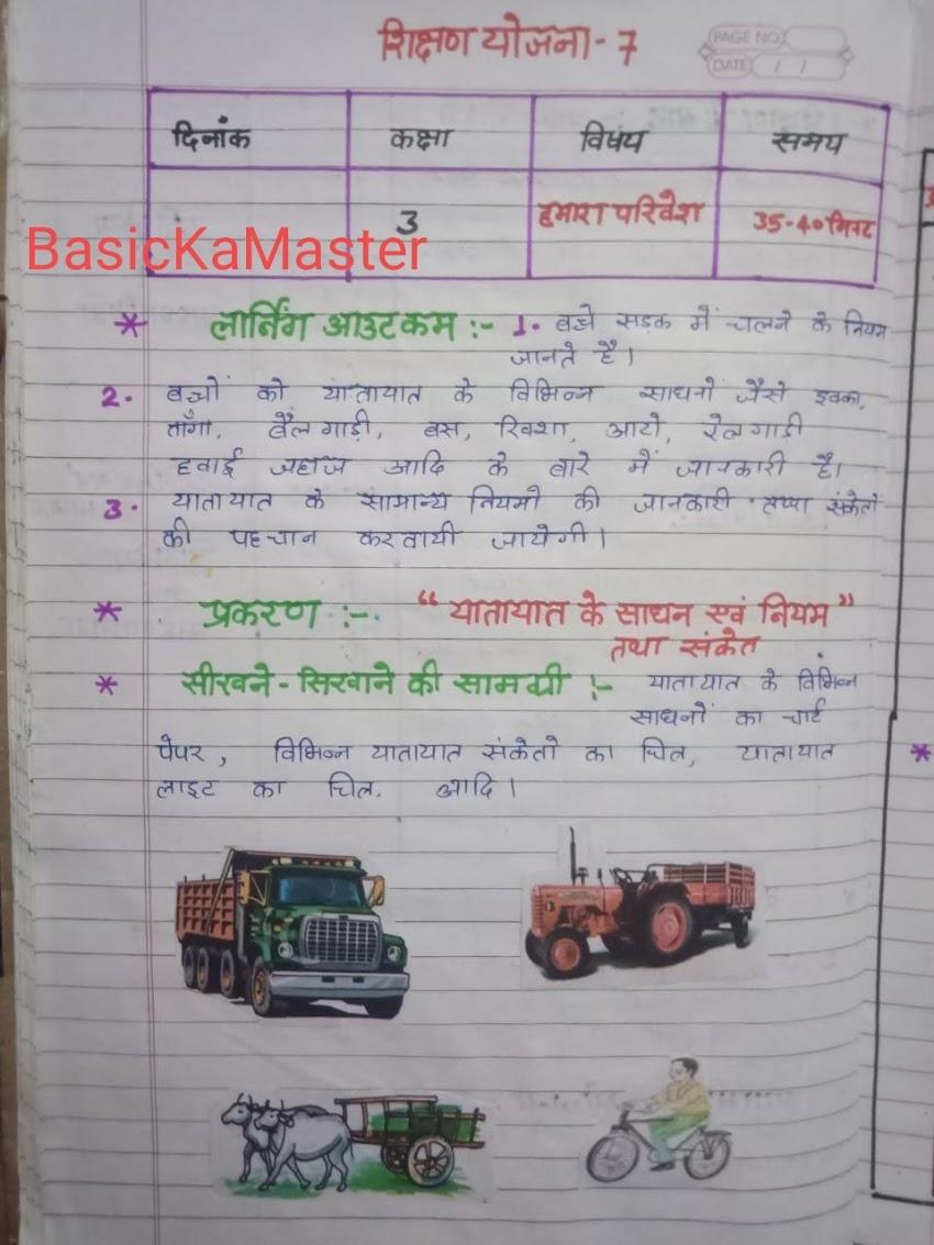 शिक्षण योजना 9 क्लास 3 हमारा परिवेश प्रकरण: यातायात के साधन by Sandeep Gupta