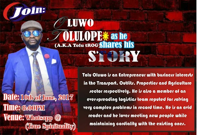My Story By Oluwo Tolulope