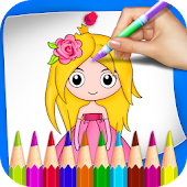 Princess Coloring Book & Drawing Book For Kids