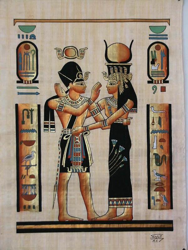 Egyptian Papyrus Art Scroll, Egyptian Magic