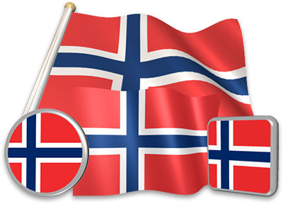 Norwegian flag animated gif collection