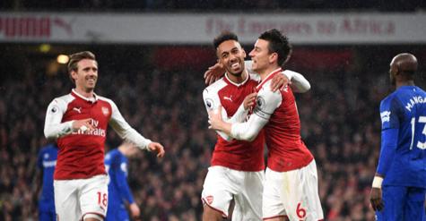 Match Report: Arsenal destroys Everton(5-1), Aubameyang scores goal