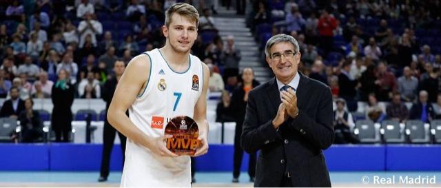 Luka Doncic Mvp de Octubre en Euroliga