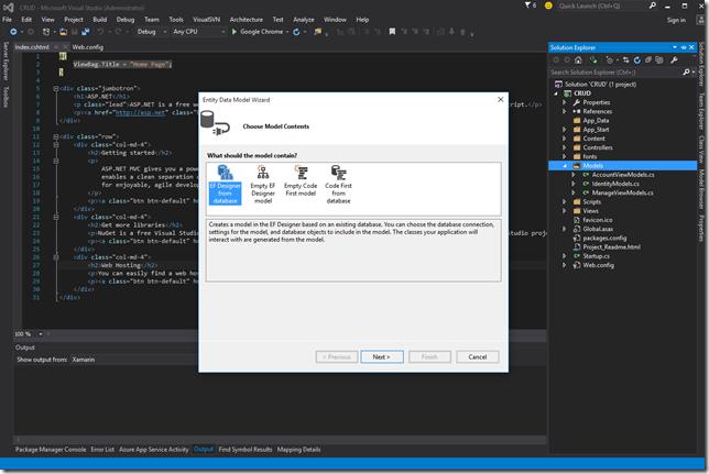 Database & Model EF Designer