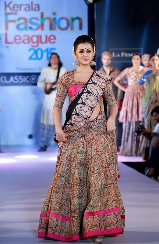 Nikki Galrani Ramp walk in Kerala Fashion League
