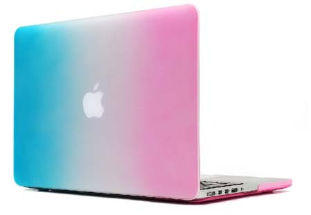 coloré arc en ciel mat couverture rigide affaire manches pour MacBook air 11 13