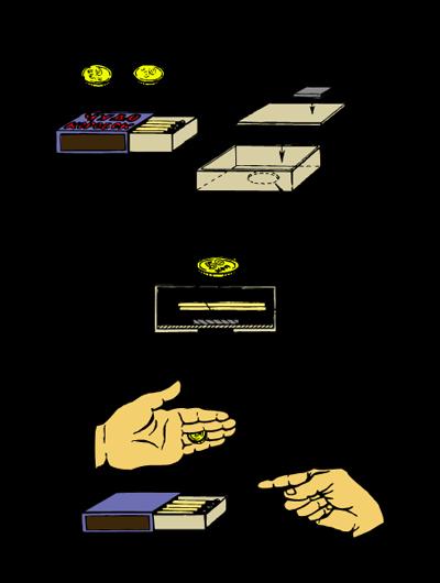 Монеты и спички