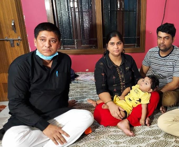 नन्हे आयांश के मदद के लिए आगे आए राणा प्रताप सिंह उर्फ डब्लू सिंह