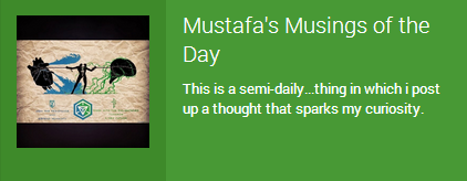 Mustafa's Musings of The Day