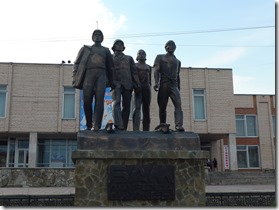 Severobaikalsk momnuent à la gloire des constructeurs du BAM