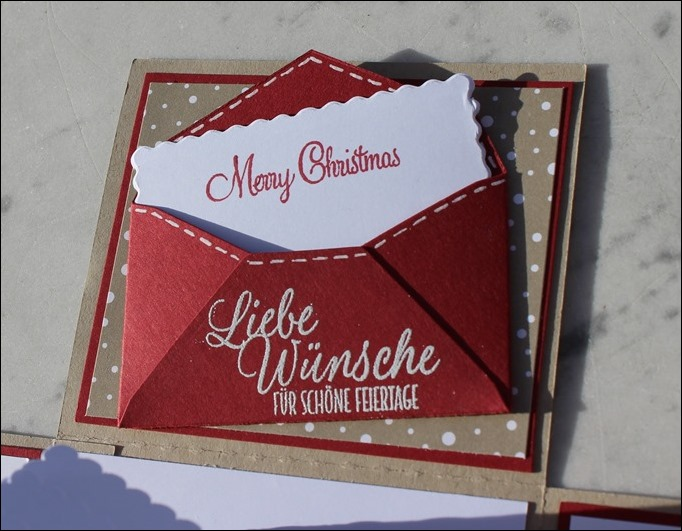 Explosion Box Weihnachten Stampin Up Christmas Candy Cane Lebkuchenhaus Gingerbread House LED 06