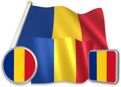 Romanian flag animated gif collection