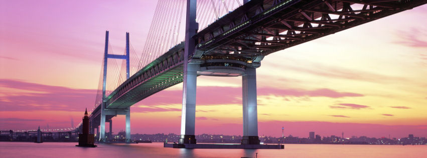 Yokohama bay bridge Japan facebook cover