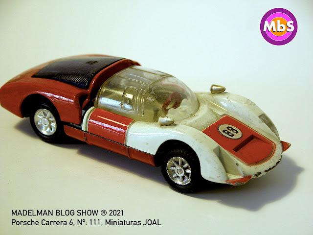 Porsche Carrera 6, Nº: 111, Miniaturas JOAL